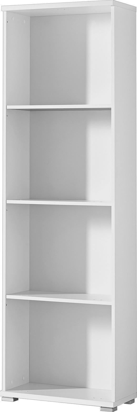 Korpus für Schuhschrank Weiß - Silberfarben/Weiß, Design, Holzwerkstoff/Kunststoff (53/174/30cm) - Xora