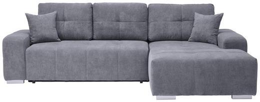 WOHNLANDSCHAFT Grau Webstoff - Silberfarben/Grau, KONVENTIONELL, Kunststoff/Textil (280/194cm) - Carryhome