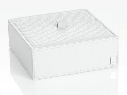 BOX MIT DECKEL - Weiß, Design, Kunststoff (20,5/7,5/20,5cm) - Joop!