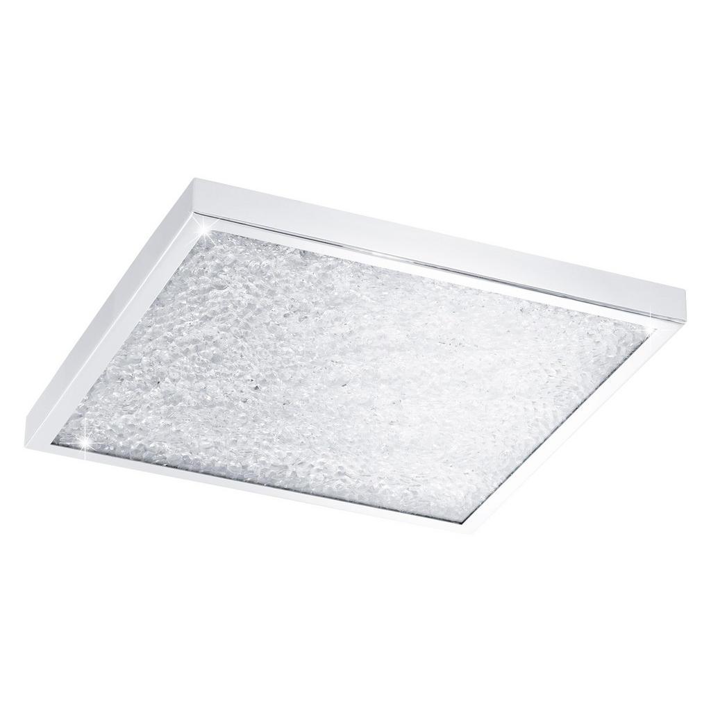 LED PANEL, 44/44/5,5 cm - čiré, barvy chromu