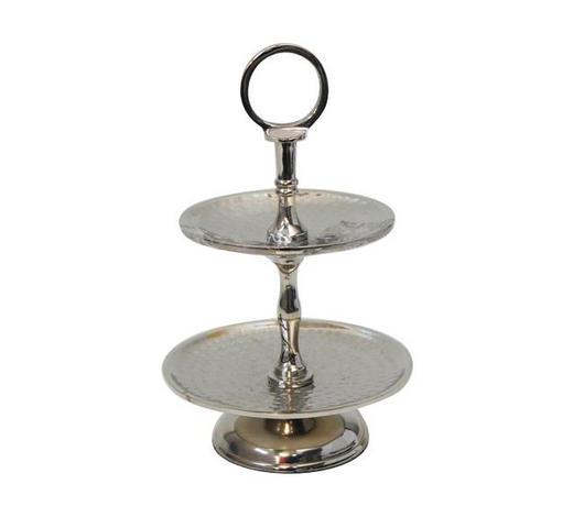 ETAGERE 15,5/23 cm - Silberfarben, Design, Metall (15,5/23cm) - Ambia Home