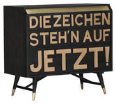 SIDEBOARD 95/87/45 cm  - Messingfarben/Schwarz, Trend, Holz/Metall (95/87/45cm) - Carryhome