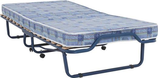 KLAPPBETT in Holz, Metall, Textil Blau - Blau, Basics, Holz/Textil (90/40/200cm)