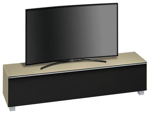 TV-ELEMENT Sandfarben, Schwarz - Sandfarben/Schwarz, Basics, Glas/Kunststoff (180/43,3/42cm)