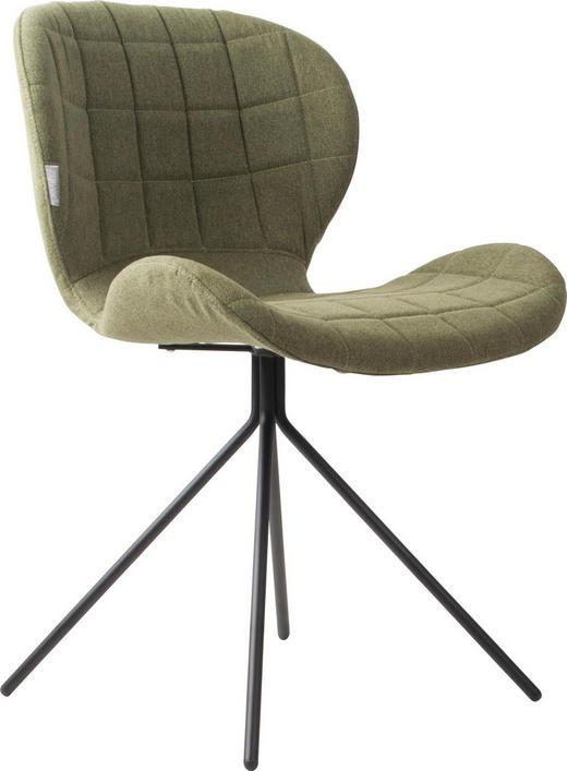 STUHL Grün - Schwarz/Grün, Design, Textil/Metall (51/56/80cm)
