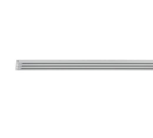 FLÄCHENVORHANGSCHIENE 240 cm  - Alufarben, Design, Metall (240cm) - Homeware