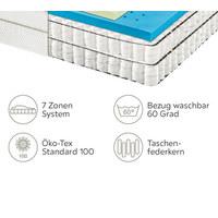 TASCHENFEDERKERNMATRATZE 90/200 cm - Weiß, Basics, Textil (90/200cm) - Bentley