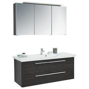 KOUPELNA, černá - bílá/černá, Design, kompozitní dřevo/sklo (120cm) - Novel