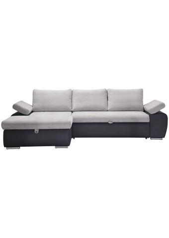SEDACÍ SOUPRAVA, světle šedá, tmavě šedá, textil - tmavě šedá/světle šedá, Design, textil/umělá hmota (175/271cm) - Xora
