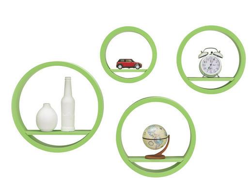 SET ZIDNIH POLICA - zelena, Design, drvni materijal (39,5/39,5/9cm) - BOXXX