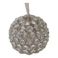 DEKOKUGEL - Klar/Silberfarben, Trend, Glas/Metall (10/10cm) - Ambia Home