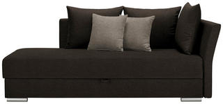 LIEGE in Textil Dunkelbraun - Chromfarben/Hellbraun, Design, Kunststoff/Textil (220/93/100cm) - Xora
