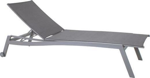 GARTENLIEGE Aluminium pulverbeschichtet Alufarben, Grau, Silberfarben - Silberfarben/Alufarben, KONVENTIONELL, Textil/Metall (70/38/201cm) - Stern