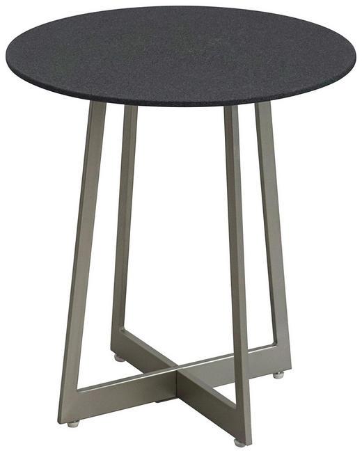 BEISTELLTISCH rund Schwarz - Schwarz/Nickelfarben, Design, Glas/Metall (43/47/43cm) - Xora