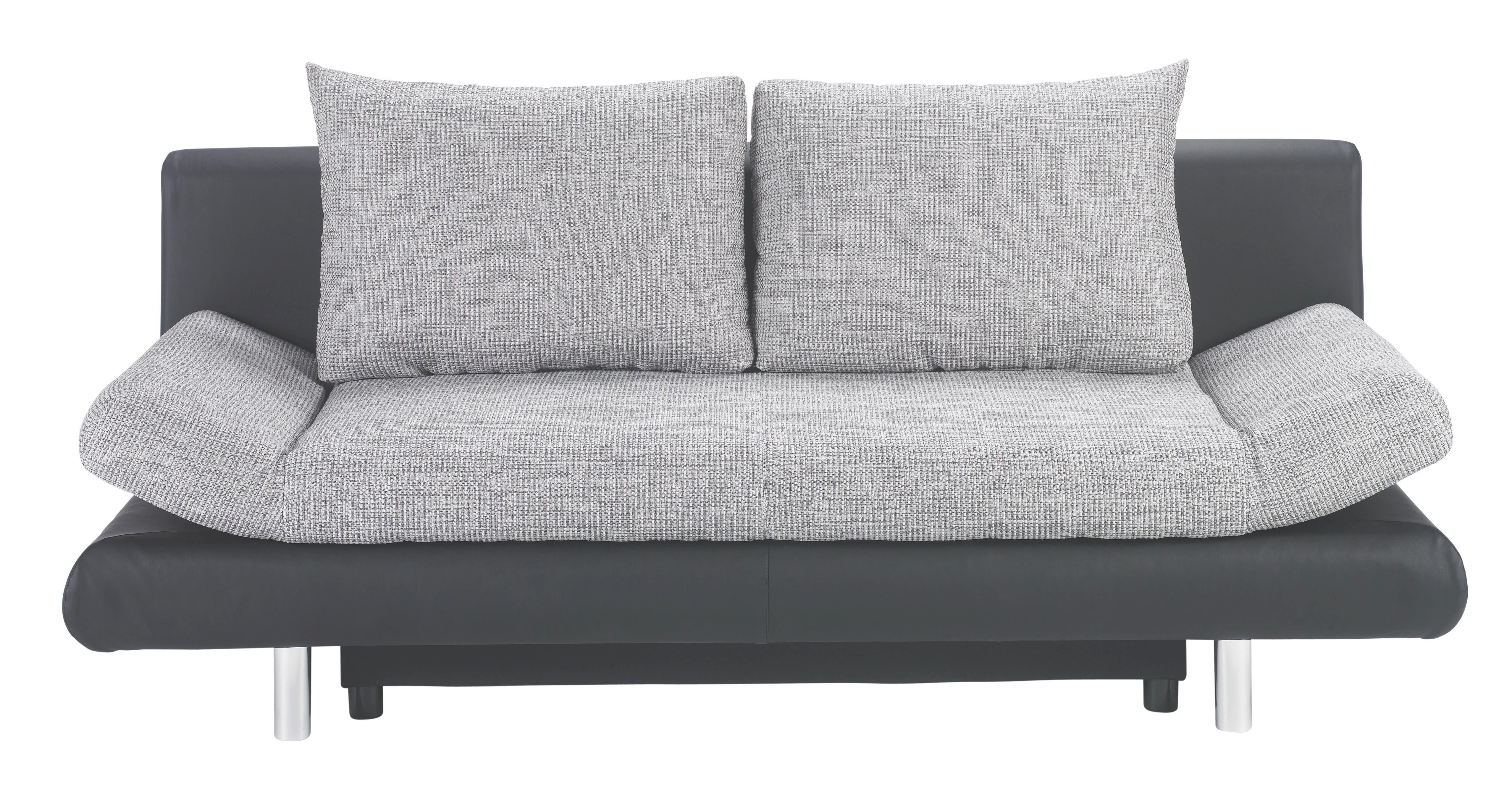 Schlafsofa In Textil Grau Schwarz Online Kaufen Xxxlutz