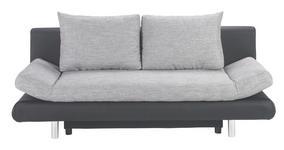 SCHLAFSOFA in Textil Grau, Schwarz  - Chromfarben/Schwarz, Design, Kunststoff/Textil (194/73/91cm) - Carryhome