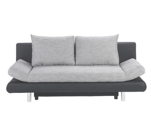 Schlafsofa In Textil Grau Schwarz