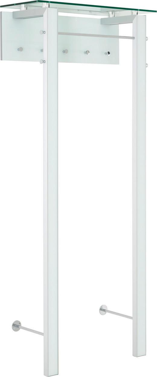 GARDEROBENPANEEL 83/193/35 cm - Alufarben/Weiß, Design, Glas/Metall (83/193/35cm) - Moderano