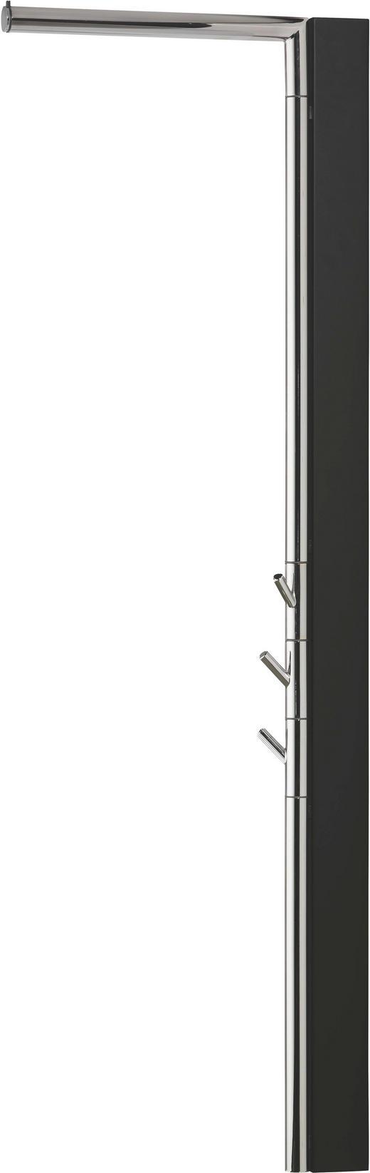 WANDGARDEROBE Buche massiv Schwarz - Schwarz, Design, Holz (2,5(35)/120/38,5cm)