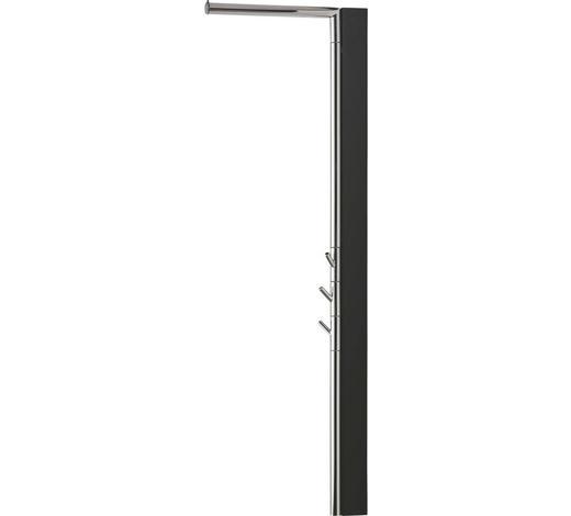 WANDGARDEROBE - Schwarz, Design, Holz (2,5(35)/120/38,5cm)