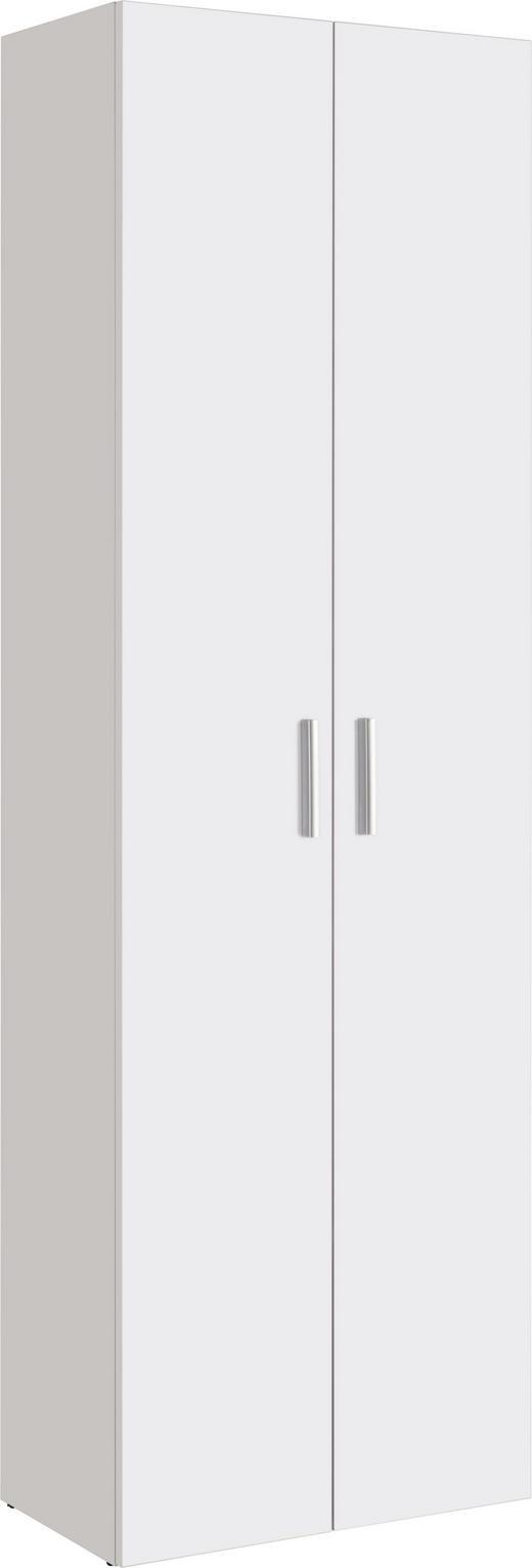 MEHRZWECKSCHRANK Melamin Weiß - Alufarben/Schwarz, Design, Holzwerkstoff/Kunststoff (60/192/33,6cm) - Carryhome