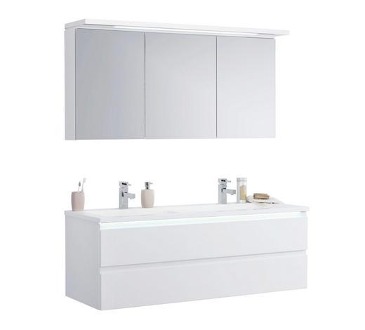 BADEZIMMER - Weiß, Design, Glas/Holzwerkstoff (140cm)