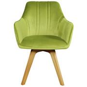 STOLICA - svijetlo zelena/boje hrasta, Moderno, drvo/tekstil (61/86/62,5cm) - Venda