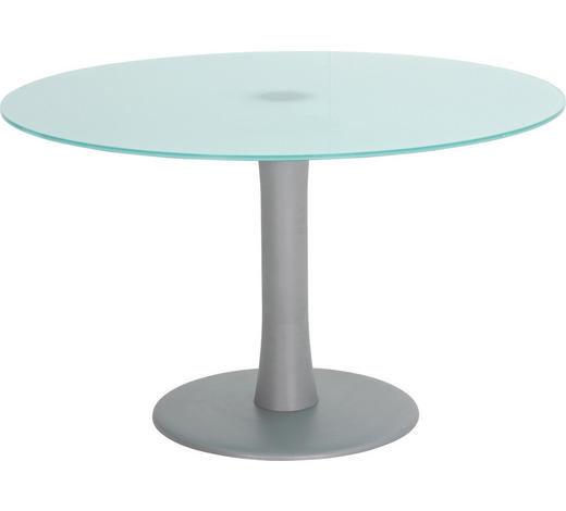 KONFERENZTISCH - Alufarben, Design, Glas/Metall (120/73cm)