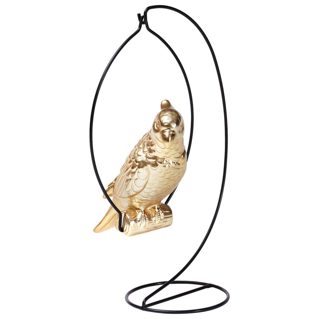 XXXL DEKOVOGEL, Gold | Dekoration > Figuren und Skulpturen > Tiere