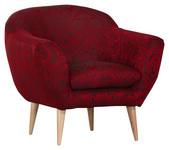 SESSEL in Textil Rot, Schwarz  - Rot/Schwarz, Design, Holz/Textil (87/78/80cm) - Carryhome