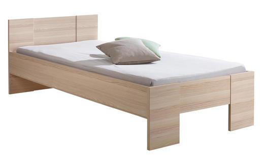 BETT 90/200 cm - Eschefarben, Design, Holz (90/200cm) - Carryhome