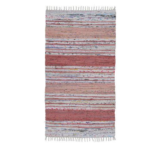 FLECKERLTEPPICH 80/150 cm - Rot/Grau, KONVENTIONELL, Textil (80/150cm) - Boxxx