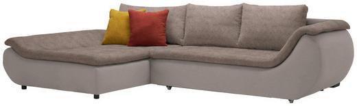WOHNLANDSCHAFT Webstoff Rückenkissen, Schlaffunktion, Zierkissen - Schwarz/Braun, Design, Kunststoff/Textil (185/310cm) - Carryhome