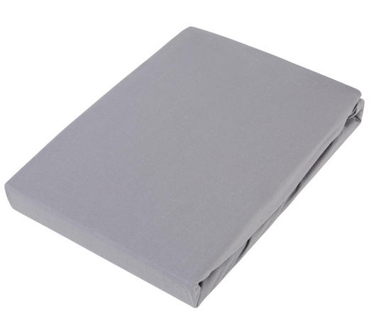 BOXSPRING-SPANNLEINTUCH - Graphitfarben, Basics, Textil (90/220cm) - Novel