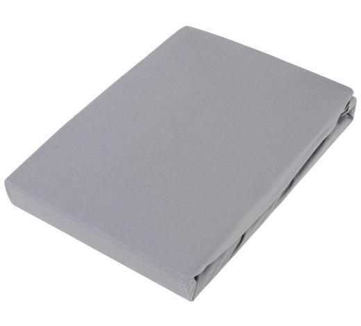 BOXSPRING-SPANNLEINTUCH 180/220 cm - Graphitfarben/Weiß, Basics, Textil (180/220cm) - Novel