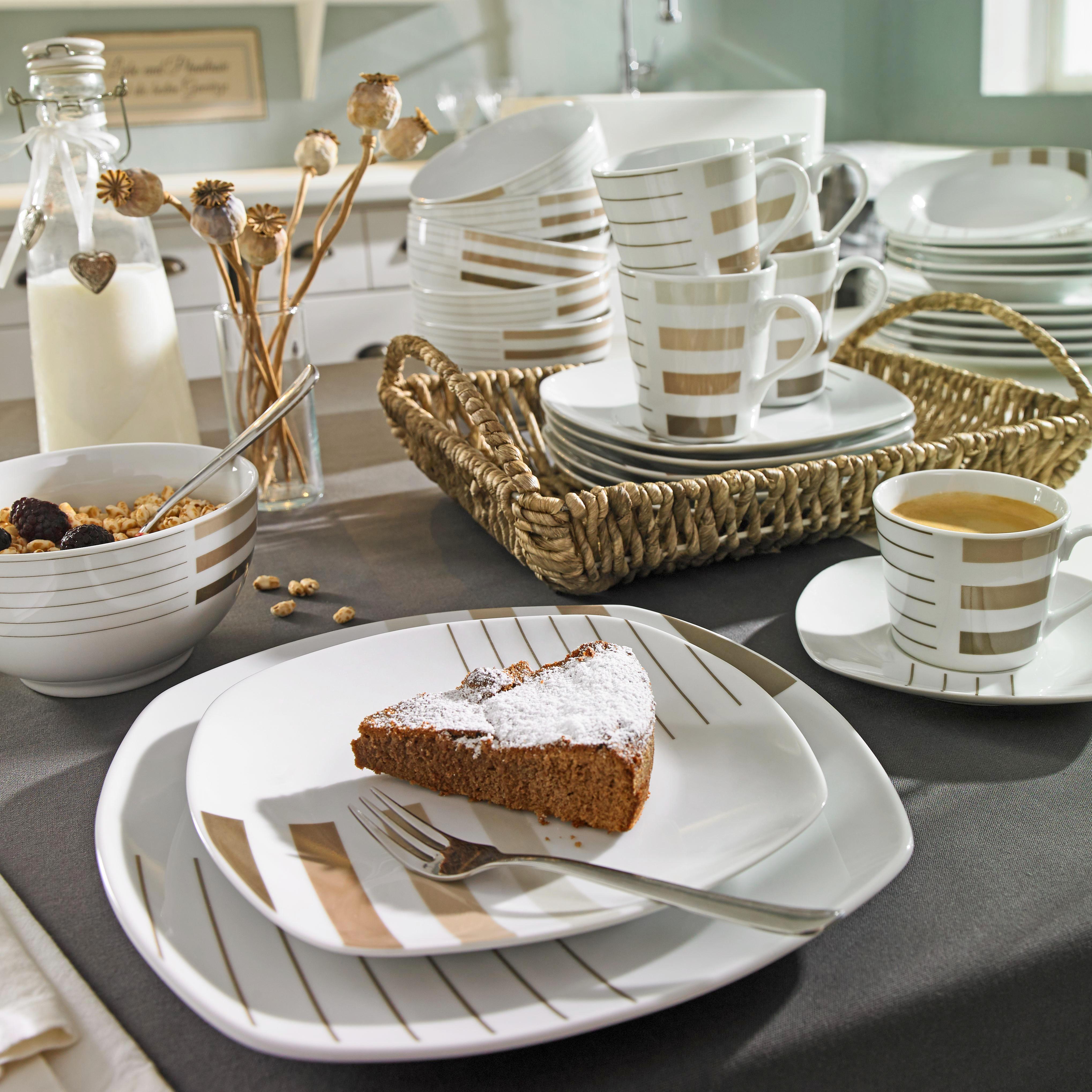 KOMPLETT SERVIS - vit/brun, Basics, keramik (//null) - Ritzenhoff Breker
