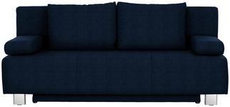 SCHLAFSOFA in Textil Blau - Chromfarben/Blau, Design, Textil/Metall (197/88/89cm) - Xora