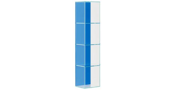 BADEZIMMERREGAL 25/112,5/20,8 cm  - Blau, Design, Glas (25/112,5/20,8cm) - Dieter Knoll