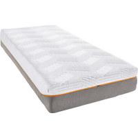 Polyurethanschaumkern Viscomatratze 90/200 cm - Weiß/Grau, Basics, Textil (90/200cm) - Tempur