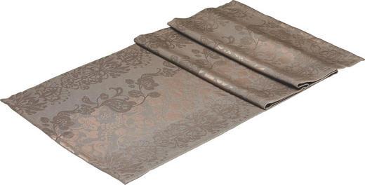 TISCHLÄUFER Textil Jacquard Braun 50/150 cm - Braun, Basics, Textil (50/150cm)