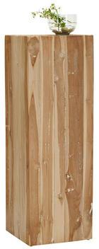 BLUMENSÄULE - Teakfarben, Trend, Holz/Stein (30/90/30cm) - Ambia Home