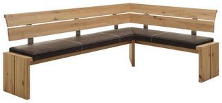 ECKBANK 240/160 cm  in Braun, Eichefarben  - Eichefarben/Braun, KONVENTIONELL, Holz/Textil (240/160cm) - Linea Natura