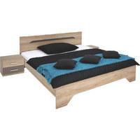 BETTANLAGE  180 cm  x  200 cm  in Holzwerkstoff Eichefarben, Grau - Eichefarben/Grau, Design, Holzwerkstoff (180/200cm) - CARRYHOME