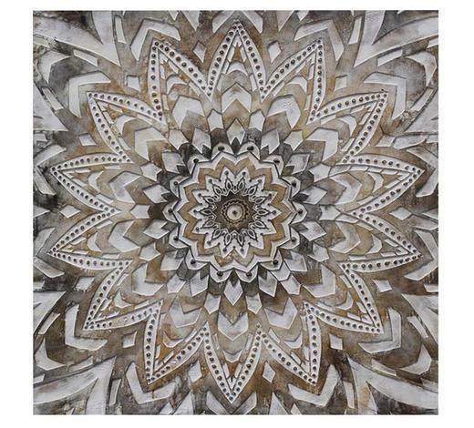 Ornamente ÖLGEMÄLDE  - Multicolor, LIFESTYLE, Holz/Textil (85/85cm) - Monee