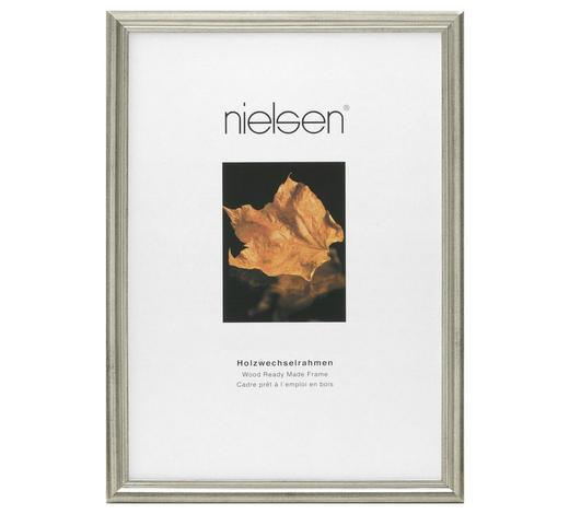 BILDERRAHMEN in Silberfarben  - Silberfarben, Basics, Holz (13/18cm) - Nielsen