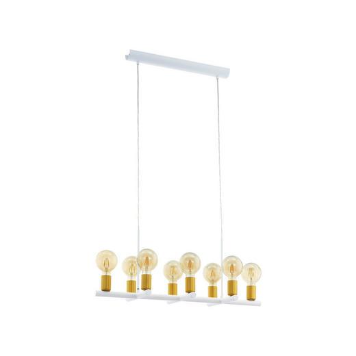 HÄNGELEUCHTE - Goldfarben/Weiß, ROMANTIK / LANDHAUS, Metall (78,5/30,5/110cm)