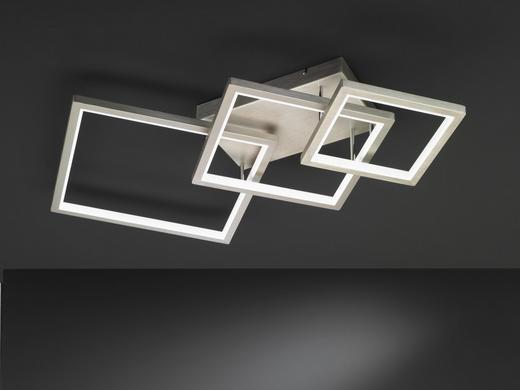 LED-DECKENLEUCHTE - Nickelfarben, Design, Metall (120/16,6/71,6cm)