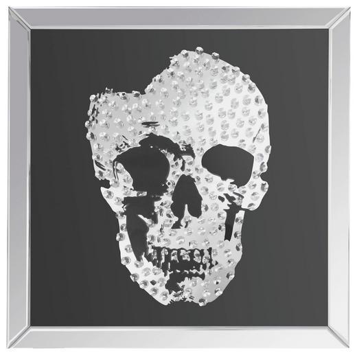 BILD - Silberfarben, Basics, Glas/Holz (100/100cm) - Ambia Home