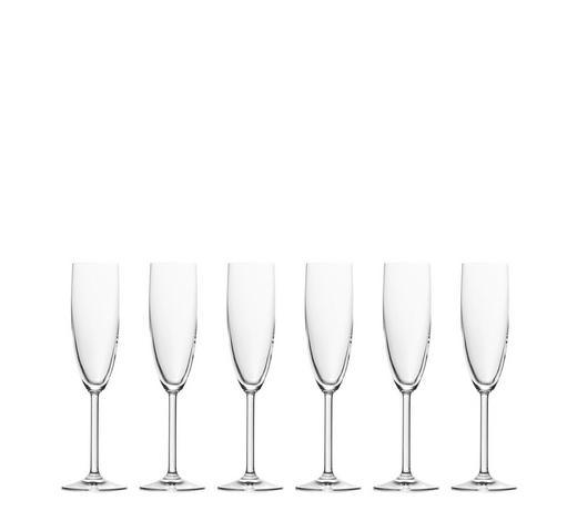 Sektglas-Set 6-teilig  - Klar, Basics, Glas (0,215cm) - Leonardo