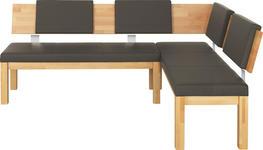 ECKBANK in Holz, Textil Buchefarben, Schlammfarben - Schlammfarben/Buchefarben, KONVENTIONELL, Holz/Textil (200/160/85/55cm) - Cantus